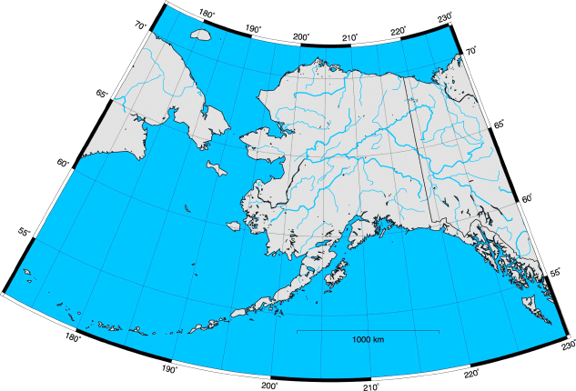 Map Of Alaska With Latitude And Longitude Lines Swimnovacom - Map of the us with latitude and longitude lines