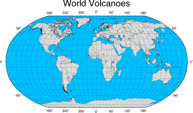The Geospatial Desktop Creating An Overlay Map With Gmt - Volcanoes-in-us-map